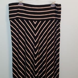 Calvin Klein Striped Maxi Skirt